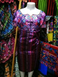 women's purple and green floral dress Takoma Park, 20912