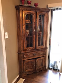 brown wooden framed glass display cabinet Quincy, 98848