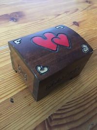 Wooden box with hearts Vaughan, L4H 2X3