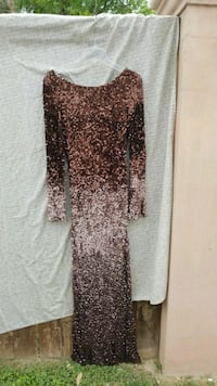 Cassandra Stone full Brown sequence dress Mission, 78572