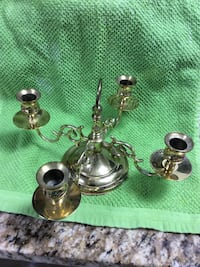 """Baldwin brass candle holder. Holds 4 candles"""" Easton, 18042"""