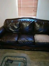 black leather 3-seat sofa Stillwater, 74074