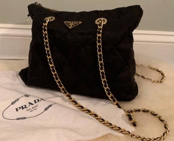 b391f1a843 Used Authentic Prada Gold Chain Shoulder Bag for sale in Cicero - letgo