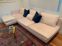 IKEA light pink sectional Miami Beach, 33139