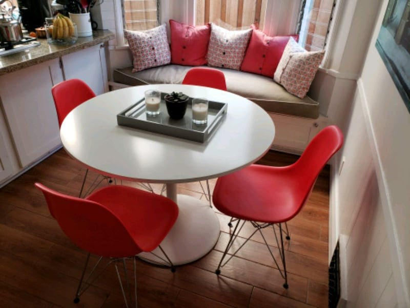 Sold White Tulip Style Dining Table W