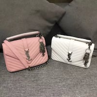 white and pink leather crossbody bag 埃尔克格鲁夫村, 60007
