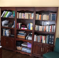 Cherry Queen Anne style Triple Bookcase Centreville, 20120