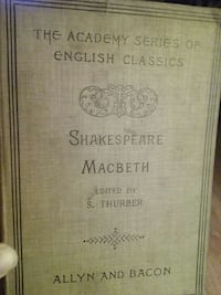 the academy series of english classics shakespeare macbeth edited by s. thurber allyn and bacon