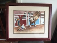 Framed original watercolor painting signed by Bob McCarthy 科奎特兰