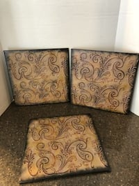 """Lot of 3 Metal Decorative 12"""" Wall Hanging $9 for All Manassas"""