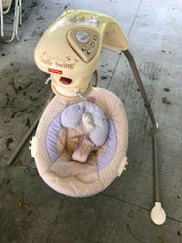 baby's pink and white cradle n swing Gibsonton