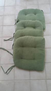 Four Sage Green Chair Cushions Lanham