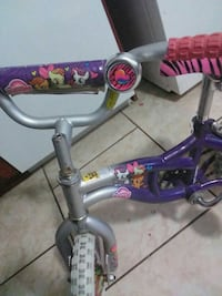 purple-and-gray My Little Pony bike