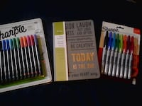 Journal and Sharpie pens 12 pack or  8 pack Brampton