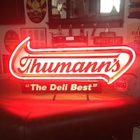 Vintage Collectible Thumann's The Very Best Neon Light Sign