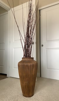 Decorative pot with branches
