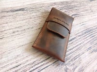 Genuine Leather, Pen Case,  Pencil Case, Leather Pen Holder Vienna, 22182