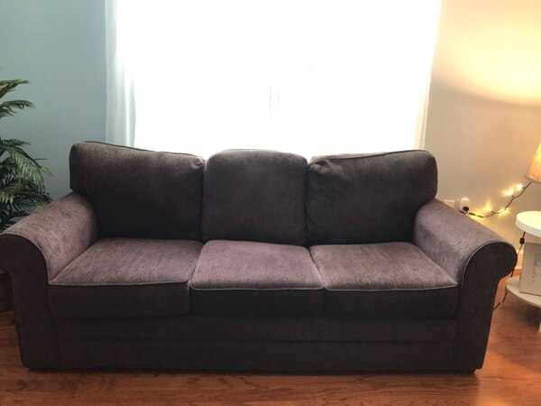 REDUCED — Dark purple sofa and chair set!