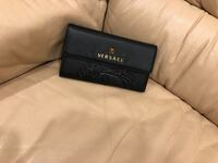 Black leather Versace Wallet  Vaughan, L4J 2P2