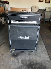 black and gray Marshall guitar amplifier Los Angeles, 91406