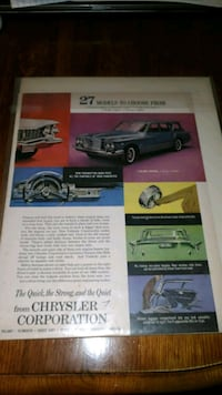 VINTAGE 1960S CHRYSLER AUTOMOBILE ADVERTISING  Chambersburg