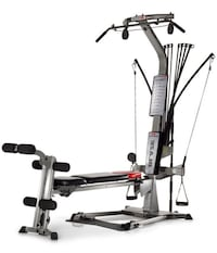 black and gray Bowflex lat pull down machine Airdrie, T4A 1P2