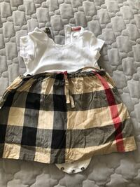 Burberry dress 9 months worn once just needs to be iron real Toronto