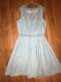 Girls denim guess dress size 12 Pomona, 91767
