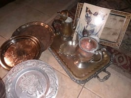 Old beutifultea kettles and serving tray