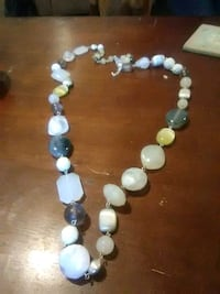 white and grey beaded necklace Akron, 44301