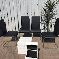 Black Leather Dining Chairs - Structube  Calgary, T3B 3M4