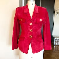 Danier Red Suede Leather Jacket Toronto, M9A