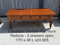 brown wooden coffee table with drawer Edmonton, T6X 0J1