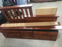 Twin bed with trundle Riegelwood, 28456