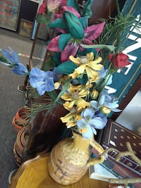 yellow, red, and blue artificial flower decor lot Farmington, 48336