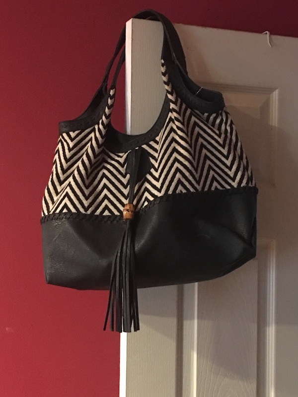 15ce6bca8be263 Used black and white zebra print leather tote bag for sale in Cambridge