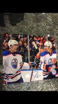 two Edmonton Oilers players poster