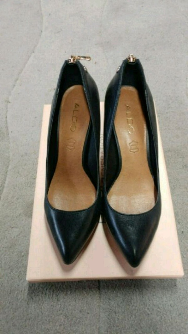 83e041cb7924 Used Aldo - Black leather pointed toe heels for sale in San Jose - letgo