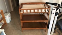 Brown wooden changing table Woodbridge, 22193
