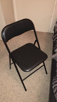black leather padded folding chair Winnipeg, R2M 4E3