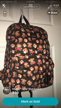 black and red floral backpack Fowler, 93625