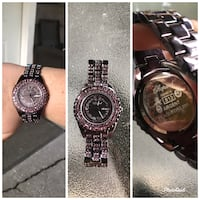 Beautiful purple chrome with pink crystals/diamonds watch Pitt Meadows, V3Y 1M8