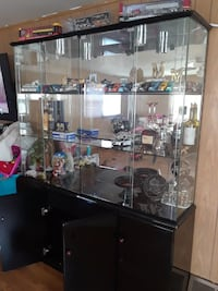 black and wooden display cabinet Joliet, 60432