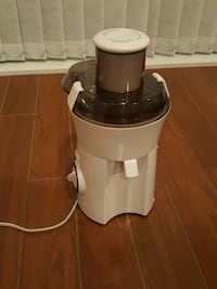 white and black food processor