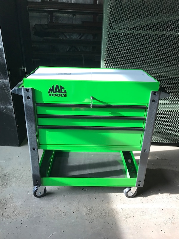 Garage Sales Joliet Il: Used Brand New MAC Tool Cart Sliding Stainless Top W/cover