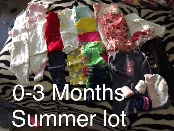 0-3 months summer lot for baby girl