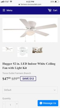 white and gray ceiling fan screenshot Farmers Branch, 75234