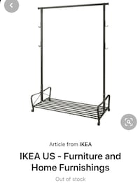 Ikea Portis Clothes Rack