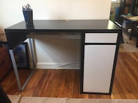 black wooden single pedestal desk 37 km