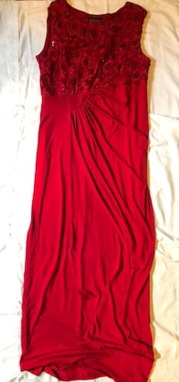 Sleeveless Long Red Dress Size 8 Perfect for Your Christmas Party 2243 mi